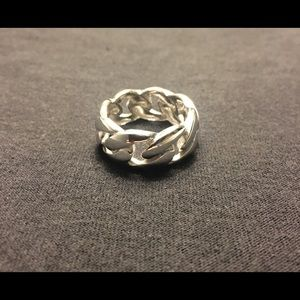 Other - Solid Silver Ring Cuban Link .925 Silver